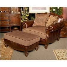 Claremore Antique Living Room Set 8430323 Furniture Claremore Antique Chair And A Half