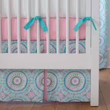 Hot Pink And Black Crib Bedding by Aqua Haute Baby Crib Bedding Carousel Designs