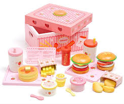baby toys mother garden strawberry simulation hamburger box wooden