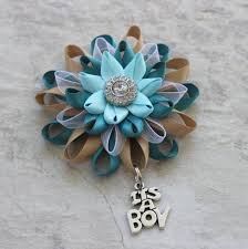 teal corsage its a boy corsage its a boy pin baby boy shower corsage baby