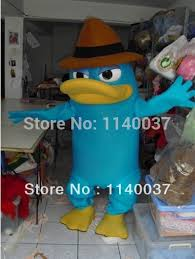 Perry Platypus Halloween Costume Aliexpress Buy Mascot Cool Blue Platypus Haracter Costume