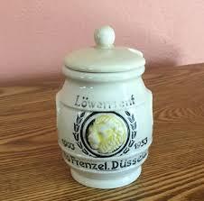 lowensenf mustard vintage otto frenzel lowensenf mustard pot pottery jar crock