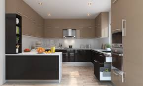 best kitchen u shaped design in small space with wooden cabinets