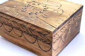 burn on wood projects wood burned tea box