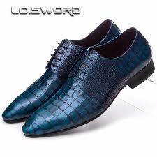wedding shoes mens aliexpress buy loisword serpentine blue black brown