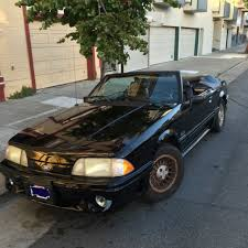 Black Fox Body Mustang Classic Stock Condition Collector U0027s 1990 Fox Body Mustang 5 0
