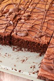 chocolate sheet cake with chocolate fudge frosting loving it vegan