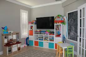Storage Bookshelf Contemporary Playroom With French Doors U0026 Crown Molding In