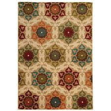 home decorators area rugs home decorators collection amelia medallion multi 5 ft 3 in x 7