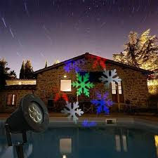 Outdoor Christmas Projector Light by Led Outdoor Christmas Waterproof Dynamic Snowflake Projection Lamp