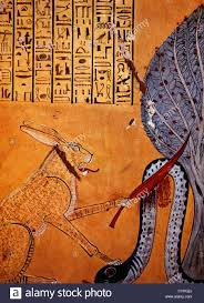 rabbit eared cat associated with the sun god ra killing apophis