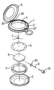 patent us6322246 water resistant movement holder for a pocket