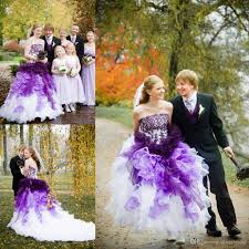 ombré wedding dress purple and white ombre wedding dresses strapless with lace