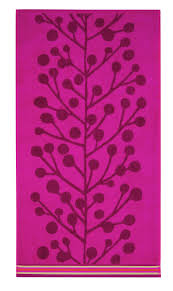 scion plant berry tree cerise bath towel by scion brewers home