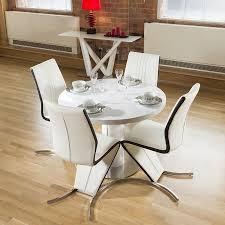 extending table dining set white gloss round 1 3 1 05 extending table 4 z
