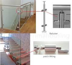Stair Banister Glass Tempered Glass Handrail Balcony Railing Design Stair Handrail