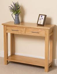 Oak Side Table Oslo 100 Solid Oak 2 Drawer Console Hall Side Table Living Room