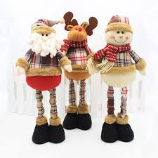 high quality handmade plush santa claus snow moose doll