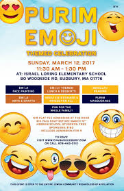 celebration emoji purim 2017 with chabad of sudbury chabad jewish center of sudbury
