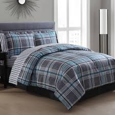 Masculine Bedding Chelsea Plaid Bed In A Bag Walmart Com