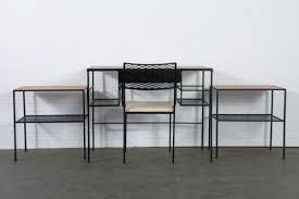 Black Desk And Chair Mid Century Modern Arbuck Desk And Chair U2014 Mid Century Modern Finds