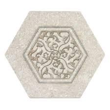 unique tile designs limestone hexagons on natural stone ships