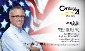 Century 21 Business Cards American Flag Century 21 Business Card Idea Century 21 Business