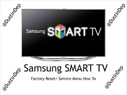samsung smart tv service menu factory reset how to led 8 series