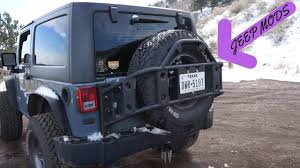 spyder jeep poison spyder tire carrier review youtube