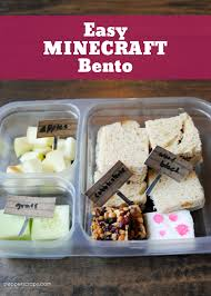 minecraft cuisine minecraft bento with goodnessknows snack squares pepper scraps