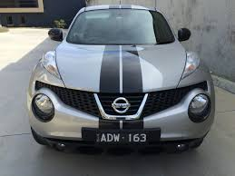 nissan australia nissan juke custom made black stripes supplied u0026 installed by