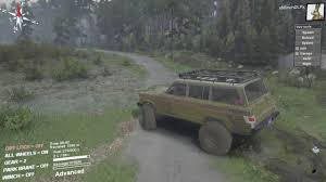 wagoneer jeep lifted spintires jeep wagoneer off roading lifted youtube