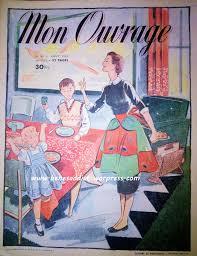 je gratuit de cuisine mon ouvrage août 1955 en intégralité avec patrons gratuits