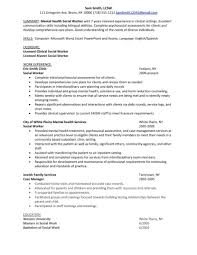 social work resume exle sle resume mental health social worker winning answers to