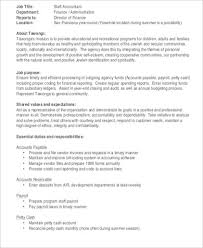 Staff Accountant Resume Examples Restaurant Accountant Cover Letter Best Accounting Clerk