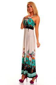 maxi kjole lang maxi kjole med blomstret motiv i flotte farver