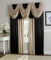 Curtains Set Black Beige Hyatt Curtain Set Moshells