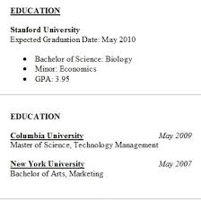Samples Of Resumes by Resume Education Tips U0026 Samples