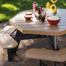 Free Hexagon Picnic Table Plans by Exteriors Recycled Plastic Picnic Tables Cedar Hexagon Picnic