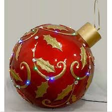 oversized ornament led lights gold 24 in