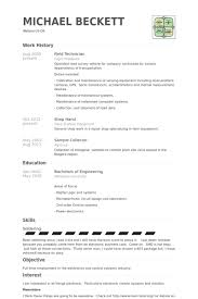 Central Service Technician Resume Sample by Field Technician Resume Samples Visualcv Resume Samples Database