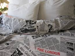 White Cotton Duvet Cover King Newspaper Print Duvet Cover Queen Size Book Bedding Black