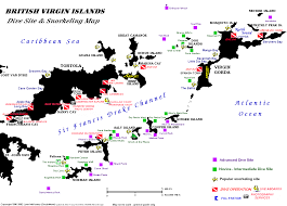 map of bvi and usvi introduction to islands diving