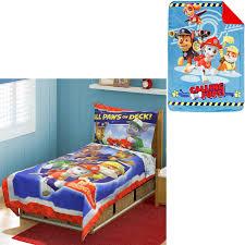 toddler bed blanket nickelodeon paw patrol toddler bedding set with bonus blanket