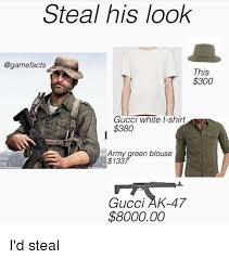 Gucci Hat Meme - steal his look this d300 gucci white t shirt 380 army green blouse