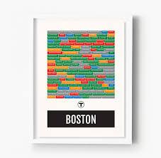 Portland Neighborhood Map Poster by Boston Neighborhoods City Transit Maps U2013 Sproutjam