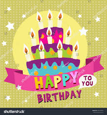 happy birthday card design template image stock vector 402743602