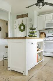 moveable kitchen island diy kitchen island with trash storage shades of blue interiors