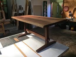 sebastian parker sculpture and furniture design walnut trestle