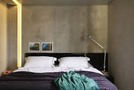 bedroom modern apartment with three dimensional effect night